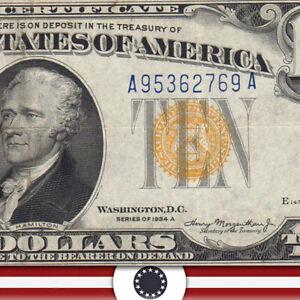 1934-A $10 NORTH AFRICA Silver Certificate WWII BILL  Fr 2309  A95362769A-UUT