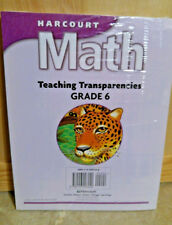Harcourt Math 6TH GRADE 6 MATHEMATICS TEACHER'S TRANSPARENCIES HOMESCHOOL TUTORS