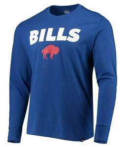 Buffalo Bills Men's Pregame Super Rival Throwback Long Sleeve Shirt - Blue