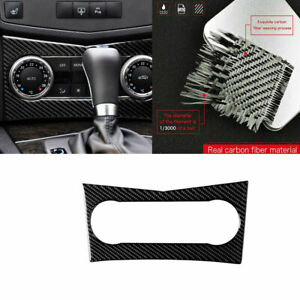 For 08-10 Benz C Class W204 Carbon Fiber Console Air Vent Outlet Cover Stickers