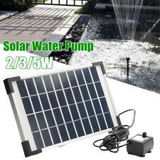 2/3/5W Solar Panel Powered Water Feature Pump Garden Pool Pond Aquarium  @