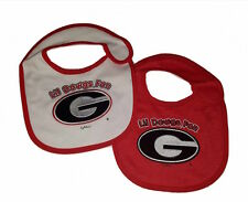 Georgia Bulldogs UGA Infant Baby Bibs 2 Piece Bib Set Team Colors