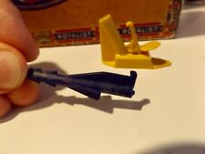 VINTAGE 1958 Cheerios Cereal Premium Missile Rocket Launcher Blue / Yellow NICE