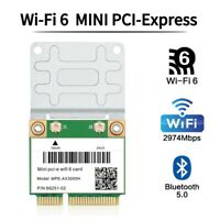 NEW 3000Mbps WiFi 6 Wireless Adapter Mini PCI-E Card Bluetooth 5.0 Notebook Wlan