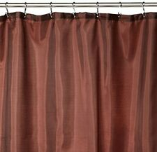 Carnation Home Fashions 100% Polyester fabric shower curtain liner with weigh...