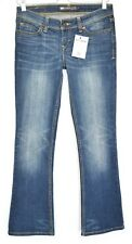 Ladies Levis SKINNY BOOTCUT Dark Blue Low Rise Jeans Size 8 W26 L30