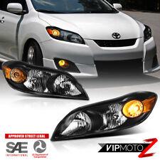 2009-2014 Toyota Matrix [Factory Style] Black Headlight Assembly Amber Reflector