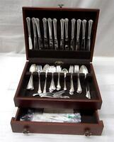 57 PIECE TOWLE STERLING SILVER CHIPPENDALE FLATWARE SET 2,045 grams