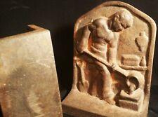 MALE NUDE vtg cast iron bookends antique beefcake book sculputure industrial age