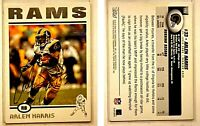 Arlen Harris Signed 2004 Topps #113 Card St. Louis Rams Auto Autograph