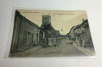 Vintage Postcard RPPC Foreign 1916 Germany Rue de I'Eglise People on Street P3