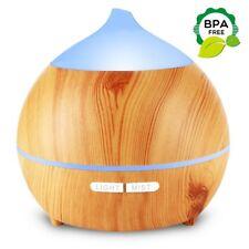 Difusor Ultrasónico De Aceites Esenciales Aromaterapia Humidificador Luz LED