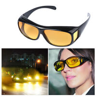HD Anti Glare Night Vision Driving Over Wrap Around Glasses Polarized Lens