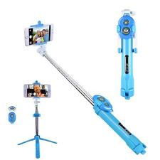 Blue Bluetooth Extendable Selfie Stick Monopod Tripod For Nokia 8 7 Plus 5 3 2