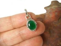 Oval  EMERALD  Sterling  Silver  925  Gemstone  PENDANT  -  Gift Boxed!