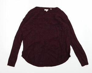 Fat Face Womens Purple  Knit Pullover Jumper Size 12  - Burgundy