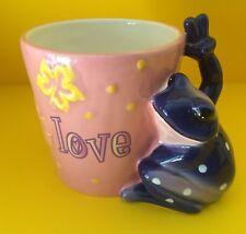 "New Ceramic Mug Peace Frogs ""Live Laugh Love"" Coffee Tea Cup Westland -No box"
