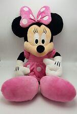 "Minnie Mouse Pink Large 24"" Plush Polka Dots Bow Disney"