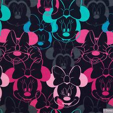 Disney-Jersey Minnie Öko-Tex Standard 100, dunkelblau Kinderstoff Stoff (J78)