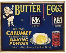 1920's Antique CALUMET BAKING POWDER Store Advertisement, Sign
