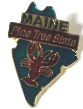 MAINE STATE LAPEL PIN HAT TAC NEW