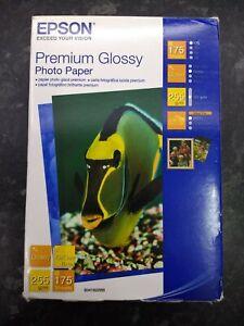 "Epson premium glossy photo paper - 10cm x 15cm 6"" x 4"" (175 sheets) brand new"