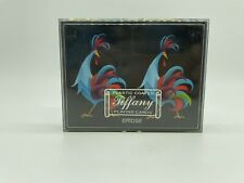 VTG TIFFANY PLAYING CARDS BRIDGE 2 DECKS PEACOCK AARCO PLASTIC COATED  IN CASE