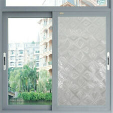 3D Diamond No Glue Static Removable Privacy Window Films Tinted Clings Home Deco