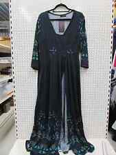 "Reborn Plus Size 2xl UK 18 (48""chest) Grey Black Check Knitted Maxi Dress"