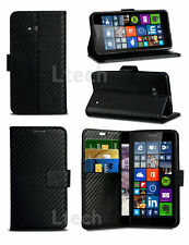 For Alcatel One Touch Pop 4 5051X - Slim Carbon Fibre Style PU Leather Case