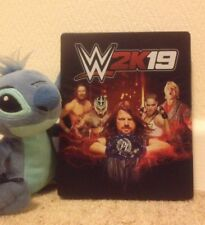 WWE WWF 2K19 2019 19 EMPTY metal tin STEELBOOK STEEL BOOK case PS4 XBOX ONE PC