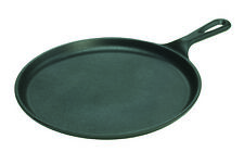 Lodge Round Griddle with handle 10.5'' (26.7cm) Rugged Cast Iron Pancake Pan