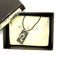 Gucci Necklace Pendant Silver Woman Authentic Used Y2314