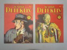 Wahre Detektiv Geschichten Nr. 3 + 4 - 2 Heftromane Krimis Kurzgeschichten -1931
