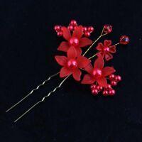 Bridal Crystal Hair Pin Wedding Handmade Hair Comb Flower Pins Women Accessories