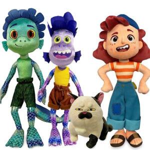 40cm Disney Pixar Luca Alberto Sea Monster Plush Toy Cartoon Purple Girl Figure