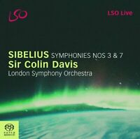 London Symphony Orchestra - Sibelius - Symphonies Nos 3 and 7 (LSO Davis) [CD]