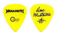 Megadeth Dave Mustaine Signature Yellow Guitar Pick - 2016 Dystopia Tour
