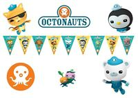 1x Octonauts Banner Bunting Flag. Party Supplies Room Decoration Lolly Loot Bag