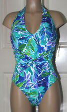 NEW Ralph Lauren Lush Tropical‑Print Plunging Twist‑Front 1pc swimsuit size 10
