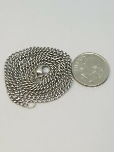 James Avery  Curb Chain Link Necklace 925 Sterling Silver 20 inch 5.3 grams