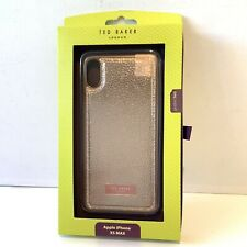 Boxed Ted Baker Gold Metallic Textured IPhone XS Max Full Case Cover Plain