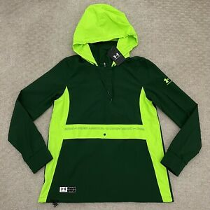Under Armour Women's Accelerate Off-Pitch Anorak Jacket Green/Lime 1365422-301 M