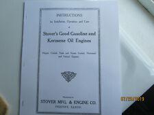 Stover Gas & Kerosene Engine Instruction Manual