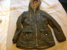 Nutmeg Girls Parka winter coat nutmeg green age 10-11 yrs