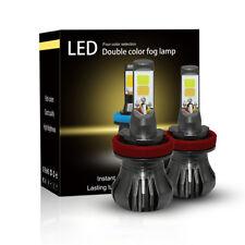 Pair H11 H8 H9 LED Fog Light Kit Low Beam White/Yellow Strobe 3000K/6000K  80W