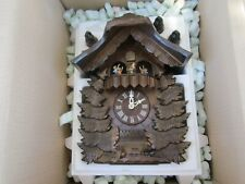 German Made Bavarian Cuckoo Clock W/ Hummel Dancers by Danbury Mint ~New in Box!