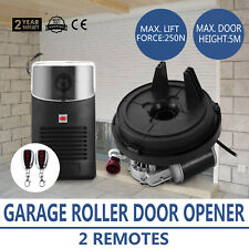Electric Garage Roller Remote Door Opener Easy Install Motor Drive 2 Remotes