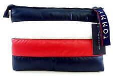 Tommy Hilfiger Red White Blue Pouch Puffy Clutch Handbag - New!