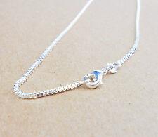 "Wholesale 30""1PCS Fashion Jewelry 925 Silver Box Chain Necklaces For Pendants"